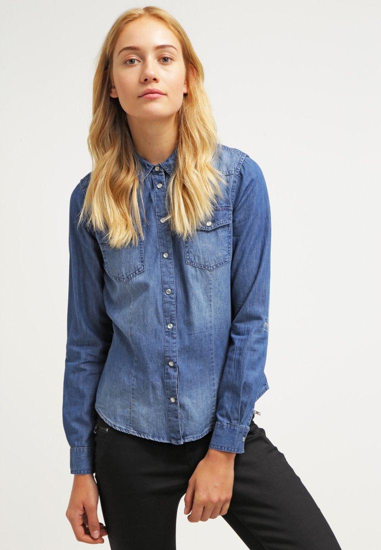 ONLY - ONLALWAYSROCK - Skjortebluser - dark blue denim