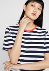 ONLY - ONLLIVE LOVE TRENDY STRIPE ONECK - T-Shirt print - night sky/wide white