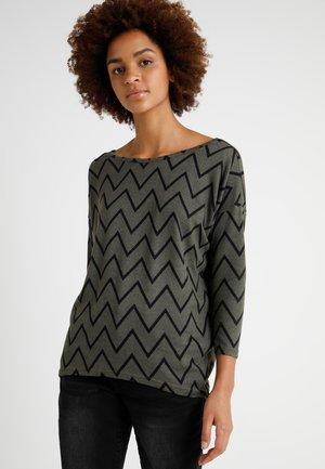 ONLELCOS MIX PRINT  - Sweter - khaki