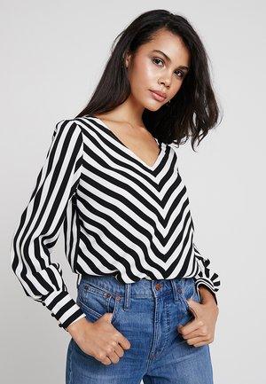 Blouse - black/white
