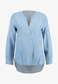 ONLY - ONLSAFFIA SLEEVE V-NECK - Camicetta - medium blue denim - 3