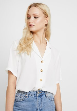 ONLNOVA SOLID BUTTIN TROUGH - Camicia - cloud dancer