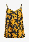 ONLDAISY MINI SINGLET - Blouse - black/yellow daisy