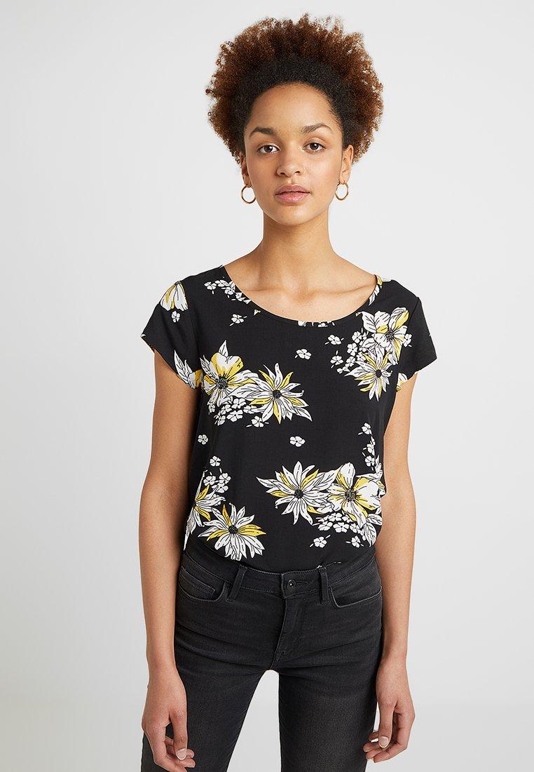 ONLY - ONLNOVA - Bluse - black/yellow