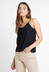 ONLY - ONLSIXTY BRODERI ANGLAIS FAN - Top - black - 0