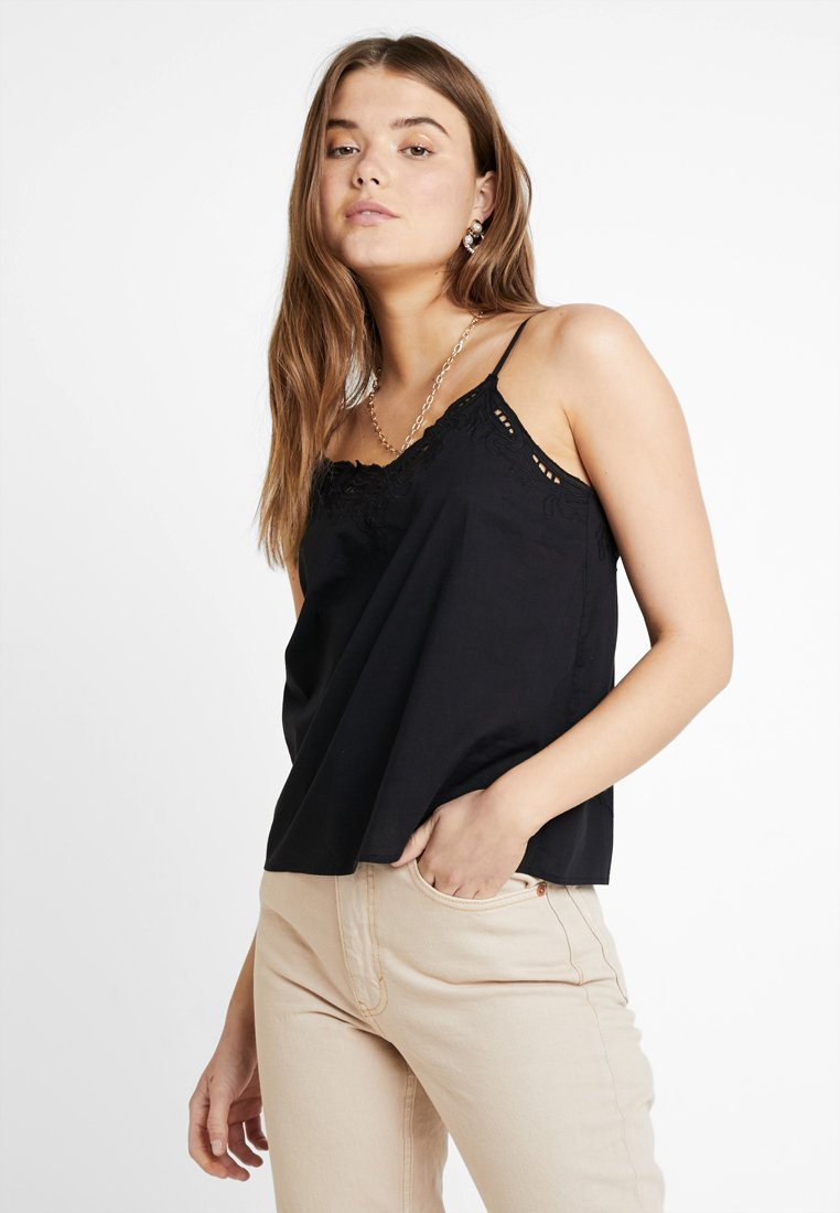 ONLY - ONLSIXTY BRODERI ANGLAIS FAN - Top - black