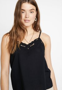 ONLY - ONLSIXTY BRODERI ANGLAIS FAN - Top - black - 4