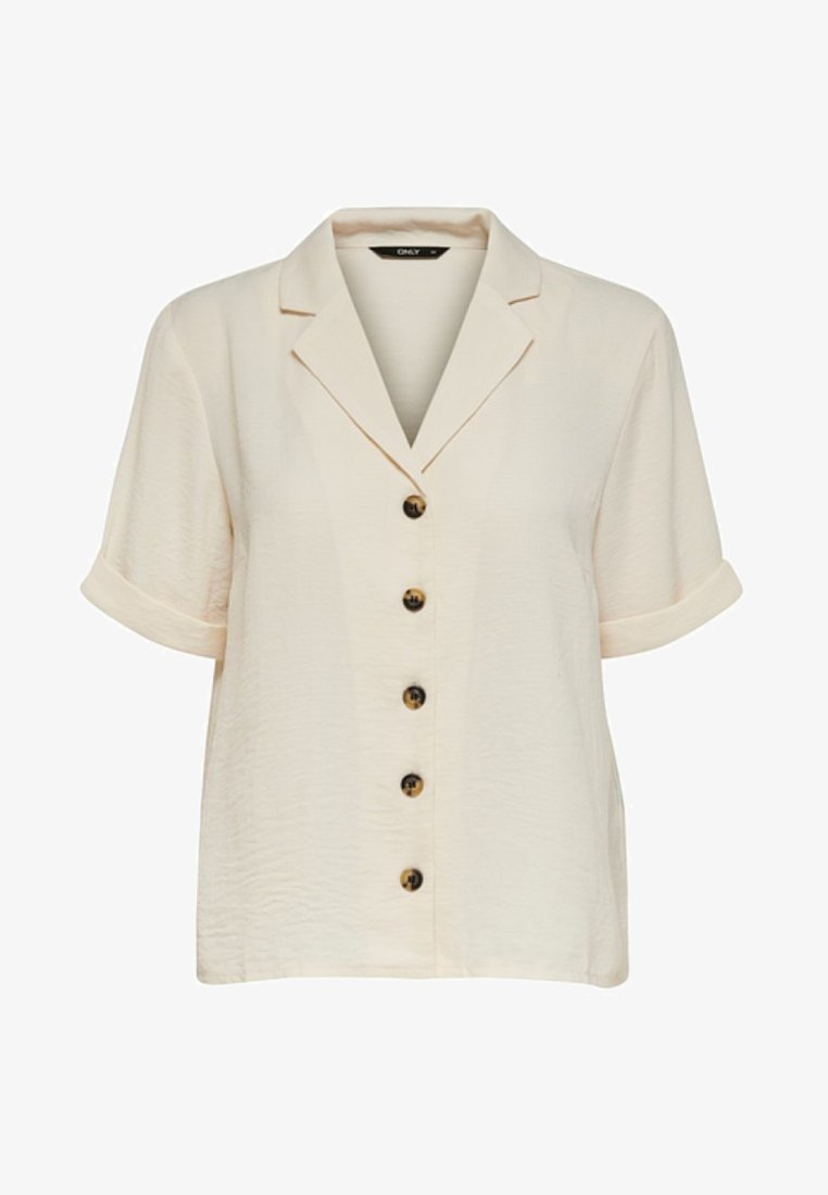 ONLY - Button-down blouse - eggnog