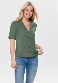 ONLY - Button-down blouse - dark green - 0