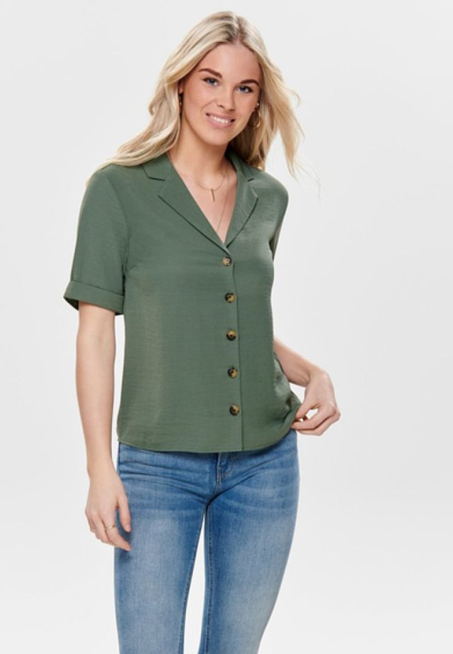 Overhemdblouse - dark green