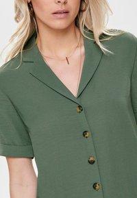 ONLY - Button-down blouse - dark green - 3