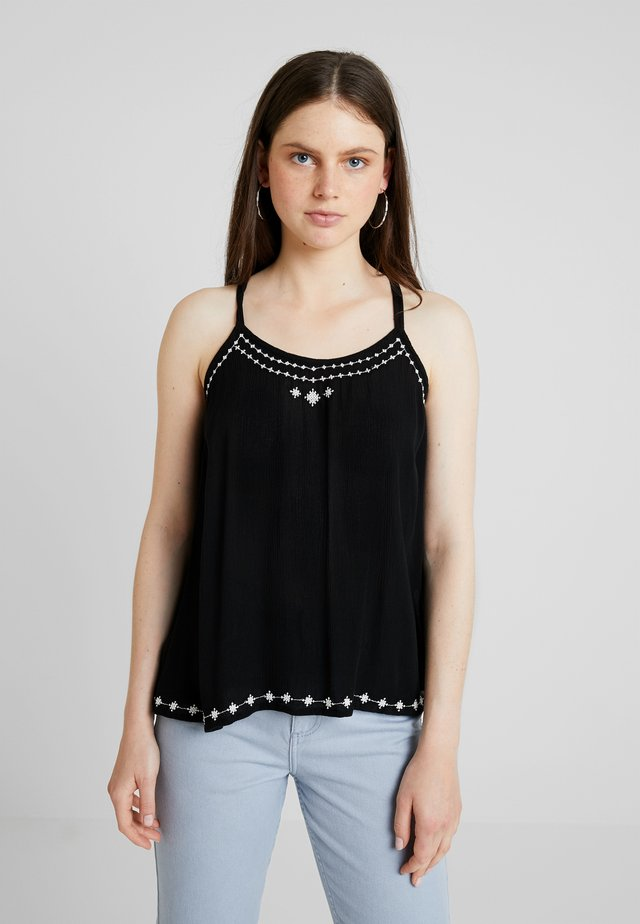 ONLARIEL STRAP SINGLET - Blusa - black