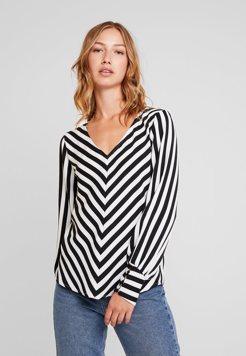 ONLY - ONLUMA  - Bluse - black/white