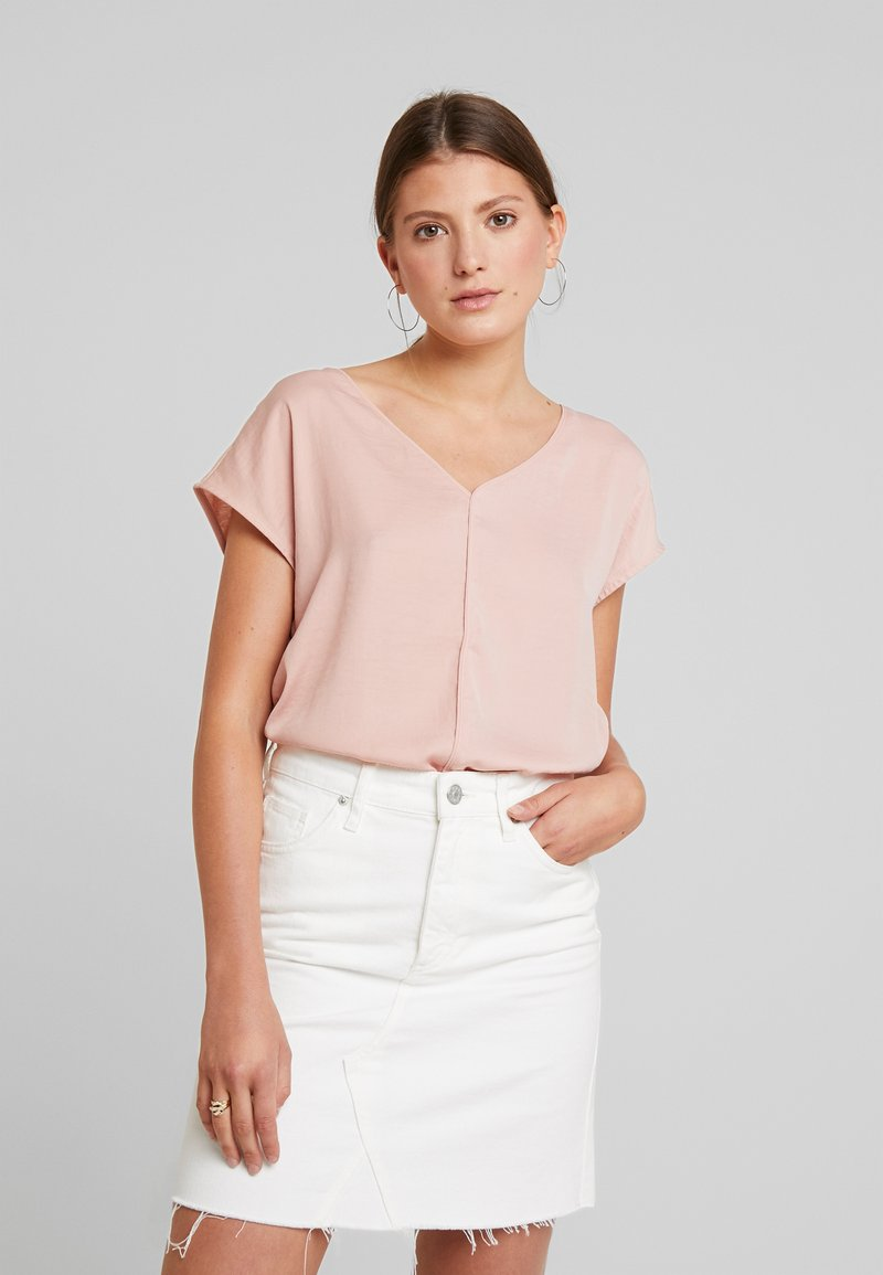 ONLY - ONLAVA V NECK MIX - Camicetta - misty rose