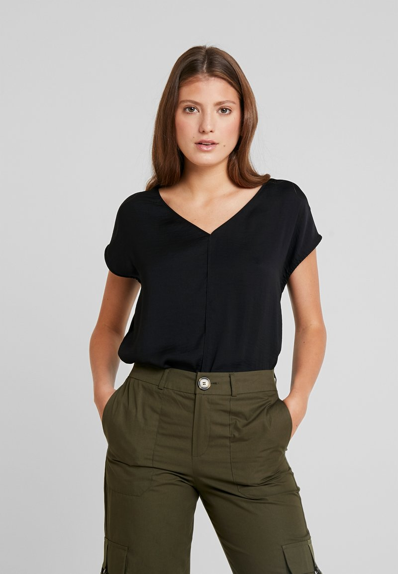 ONLY - ONLAVA V NECK MIX - Bluse - black