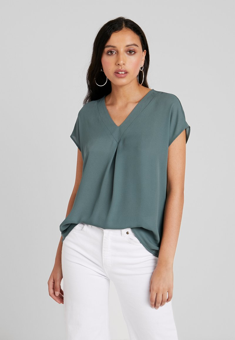 ONLY - ONLSWEET V NECK - Bluse - balsam green
