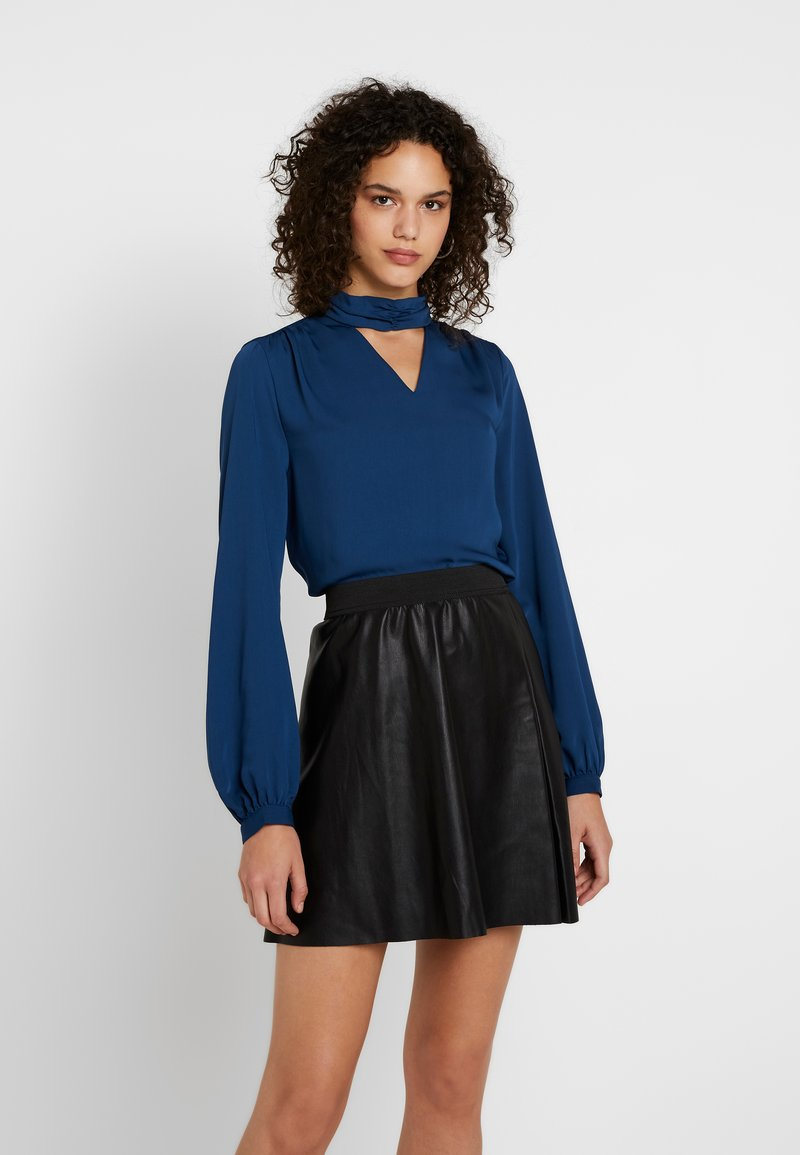 ONLY - ONLBUBBA HIGHNECK - Blouse - majolica blue