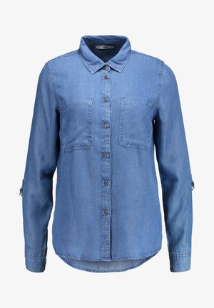 ONLFJILL FITTED - Camicia - dark blue denim