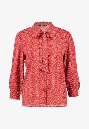 ONLELENA BOW - Blouse - rio red/graphic stripe