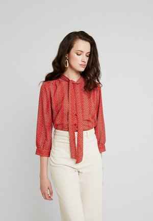 ONLELENA BOW - Blouse - rio red/graphic stripe