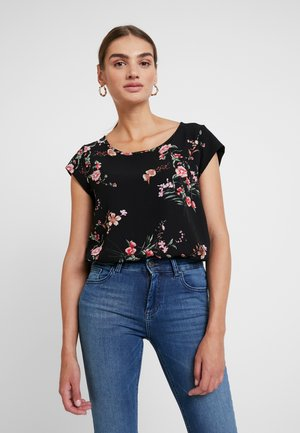 ONLNOVA - Blouse - black/red flower