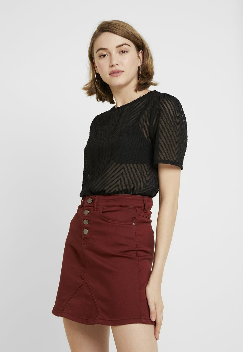 ONLY - ONLLINA CROPPED - T-shirts print - black