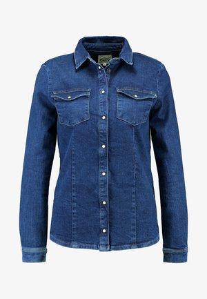 ONLROCK RETHINKING - Overhemdblouse - dark blue denim