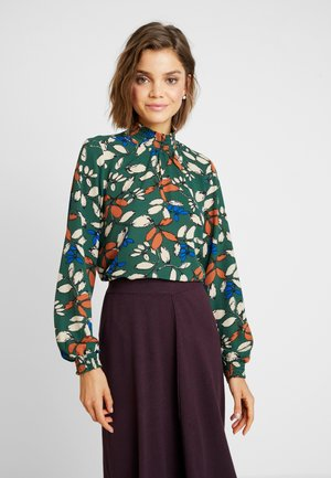 ONLNOVA LUX SMOCK HIGH NECK - Blouse - pineneedle/leaf