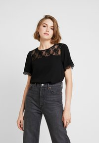 ONLY - ONLMILA LUX SOLID - Blouse - black - 0