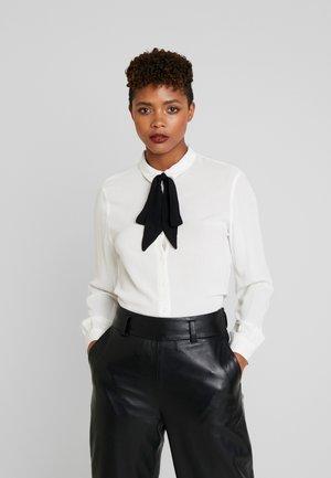 ONLJOYCE BOW  - Button-down blouse - cloud dancer