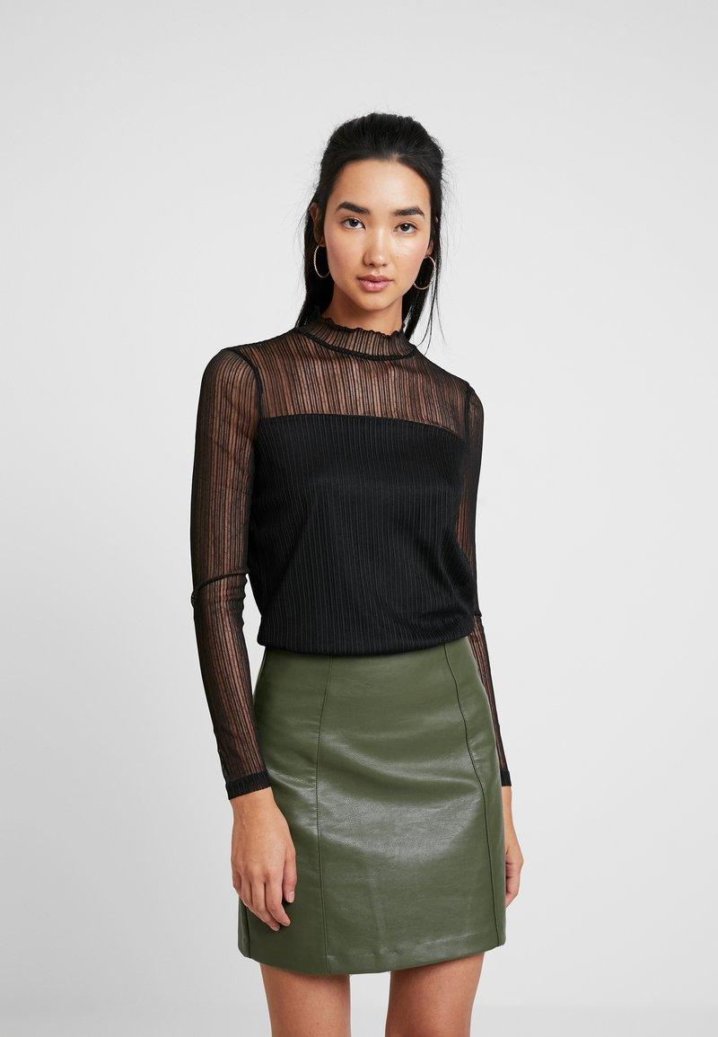 ONLY - ONLIDA HIGHNECK - Bluse - black