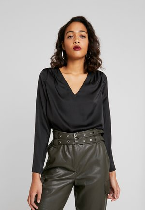 ONLFABY V-NECK - Blouse - black