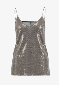 ONLY - SHINE SINGLET - Débardeur - black gold sequins - 4