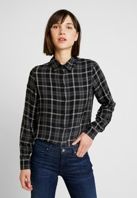 ONLY - ONLMARGIE - Button-down blouse - black - 0