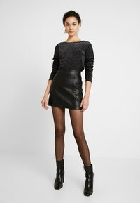 ONLY - ONLLOVABLE GLITTER - Long sleeved top - black - 1