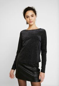 ONLY - ONLLOVABLE GLITTER - Long sleeved top - black - 0