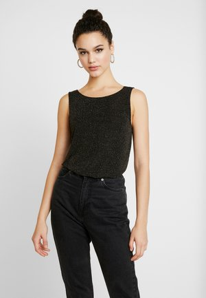 ONLQUEEN GLITTER - Top - black/gold
