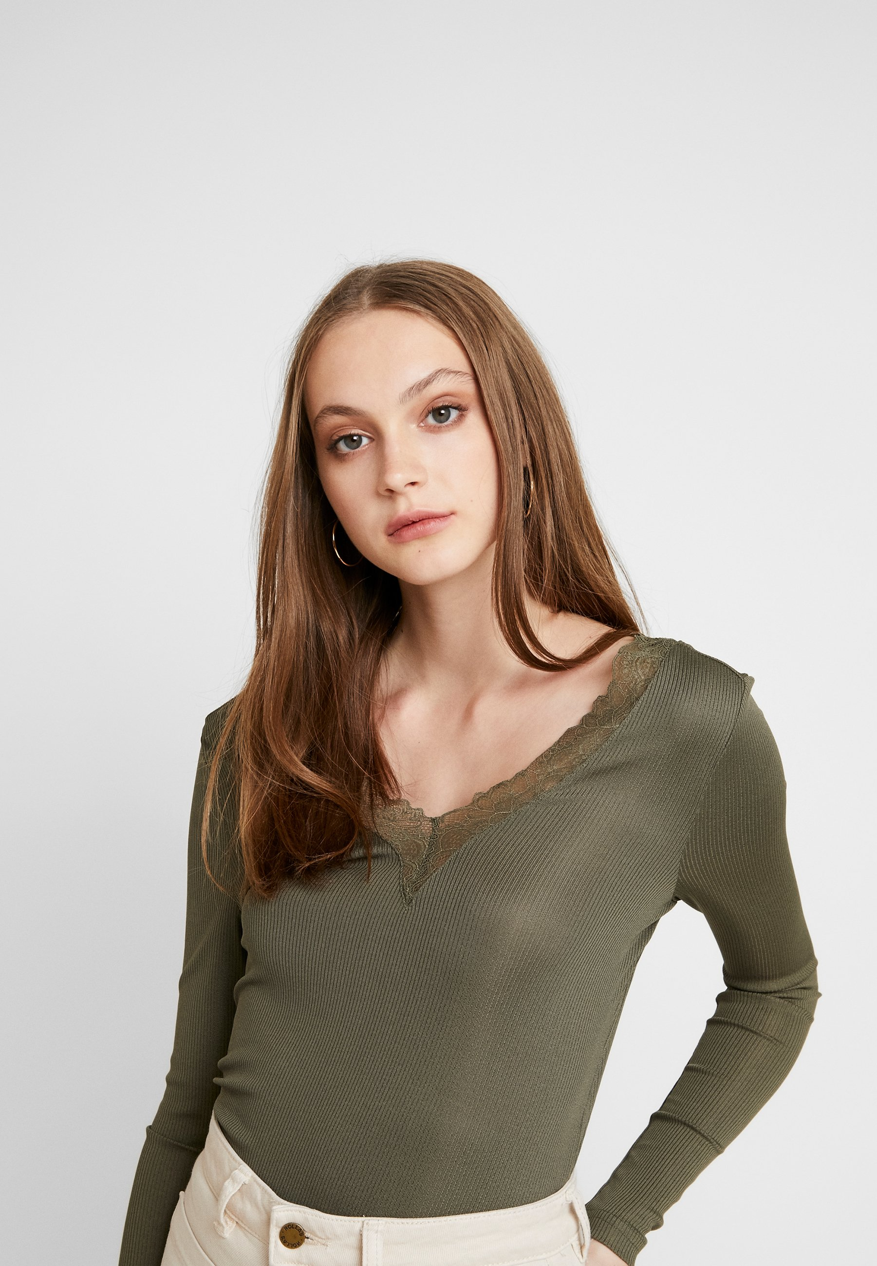 Only Onlrio V-neck - Long Sleeved Top Kalamata