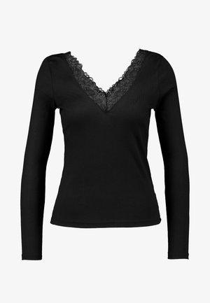 ONLRIO V-NECK - T-shirt à manches longues - black