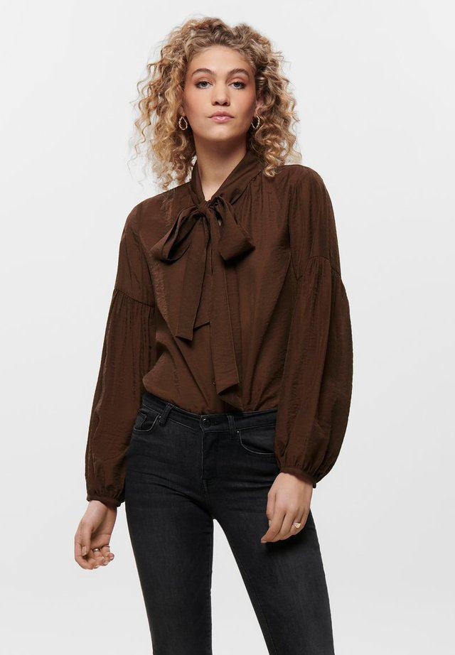 Button-down blouse - cappuccino