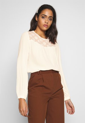 ONLMAY DOT BLOUSE - Blouse - cloud dancer