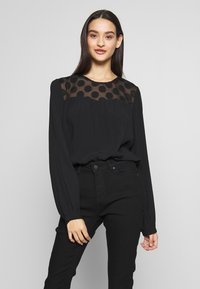 ONLY - ONLMAY DOT BLOUSE - Bluser - black - 0