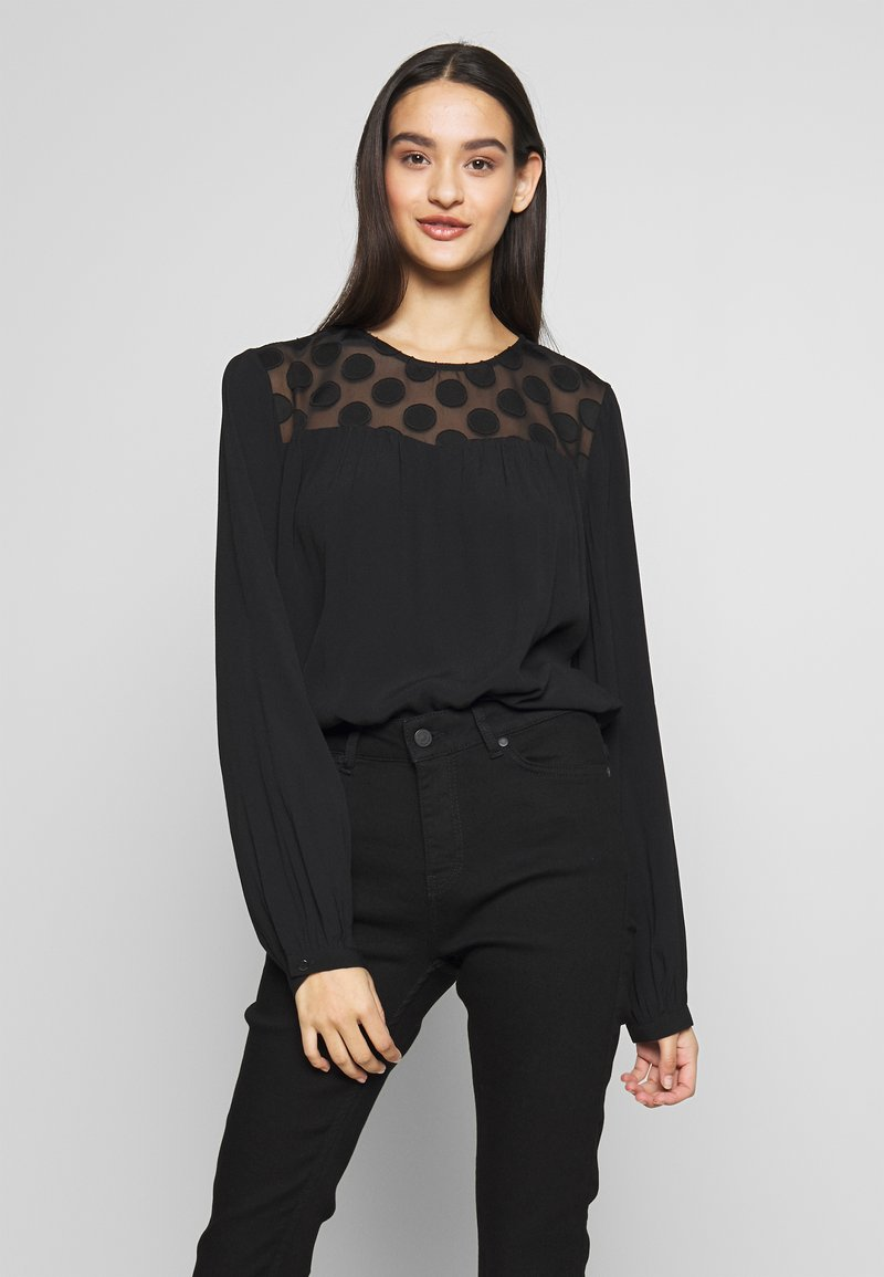 ONLY - ONLMAY DOT BLOUSE - Bluser - black
