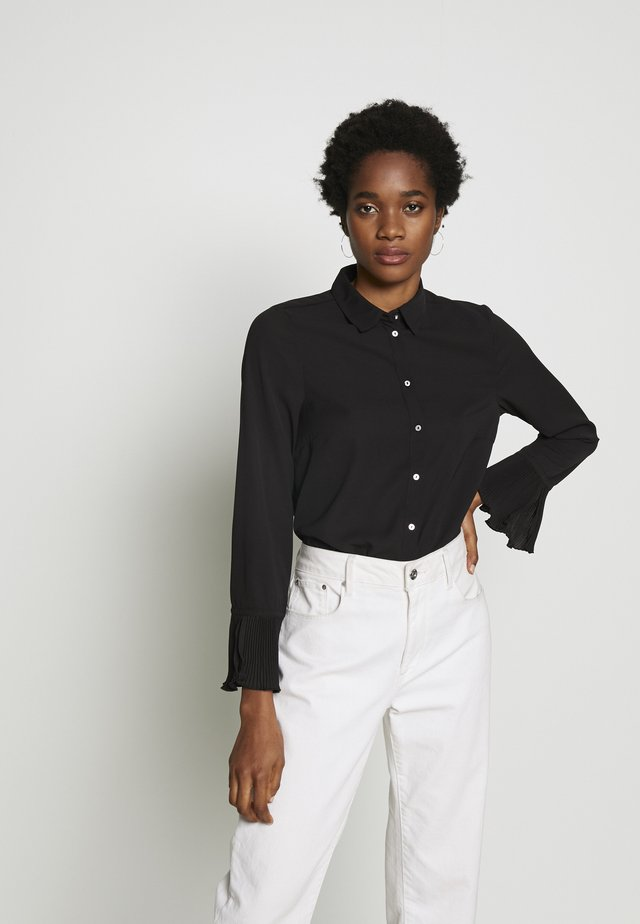 ONLNILLA - Button-down blouse - black