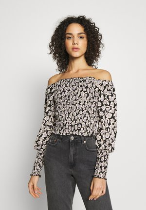 ONLROCKY ROSE CROPPED SMOCK - Blus - black