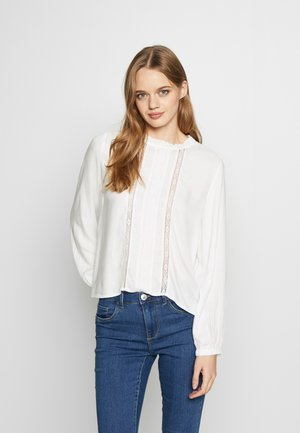 ONLLUNA FRILL - Blusa - cloud dancer