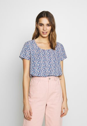 ONLALLY FIRST TOP - Blouse - rose smoke/leaf flower
