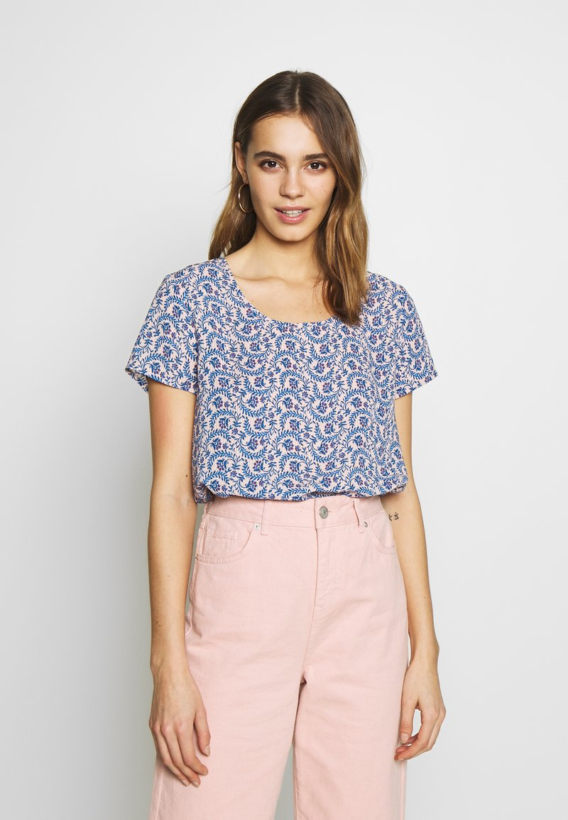ONLY - ONLALLY FIRST TOP - Blouse - rose smoke/leaf flower