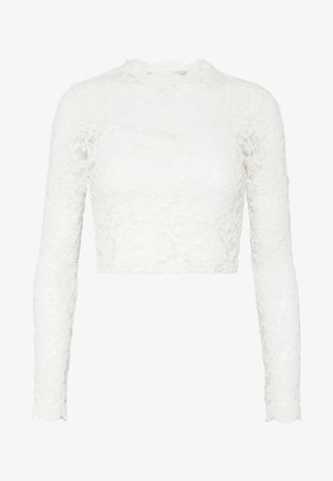 ONLJANINA CROPPED - Blouse - cloud dancer