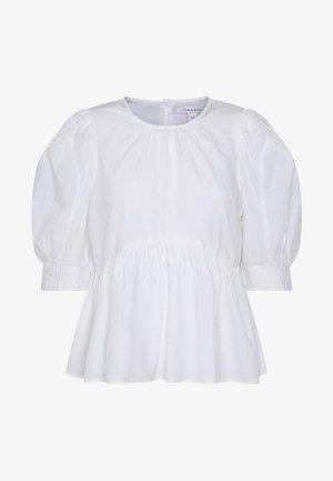 ONLKARLA S/S PUFF SLEEVE TOP WVN - Bluser - white